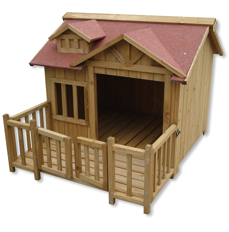 Cuccia per cani in legno tutte le cucce da esterno for Casette in legno per cani grandi